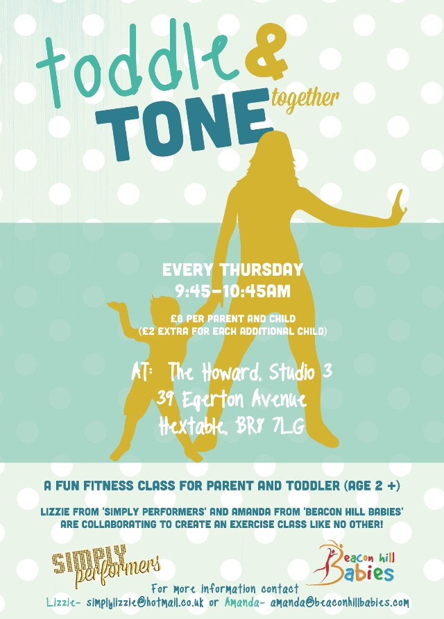 NEW 'TODDLE & TONE Together' Starting THURSDAY 5TH JANUARY 2017