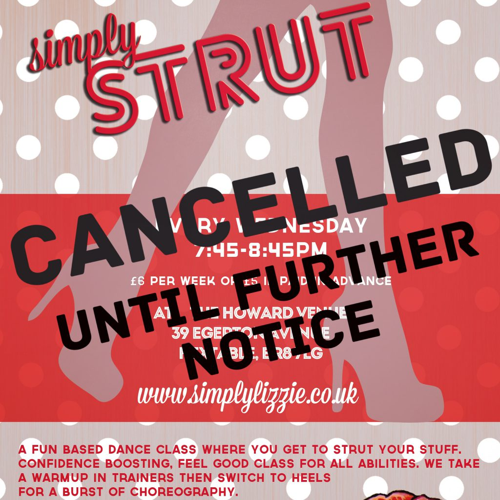 Simply Strut CANCELLED until further notice